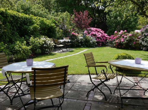 Hotel Villa Caldera Cuxhaven Restaurant im Garten