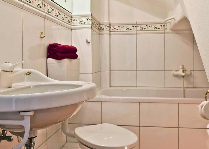 Villa Caldera Cuxhaven Doppelzimmer Bad