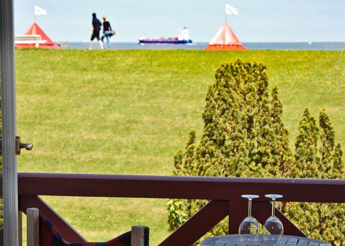 Villa Caldera Cuxhaven Doppelzimmer Seeblick Balkon