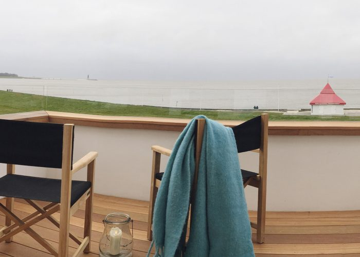Seaview Appartment Austernbank Cuxhaven Ausblick